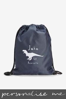 Navy Personalised Sports/PE/Gym/School Drawstring Bag