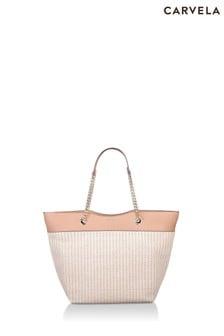 Carvela Camel Lucia Raffia Shopper Bag