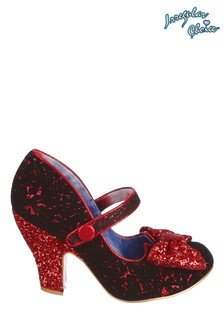 Irregular Choice Red Fancy That Instep Bar Court Shoes