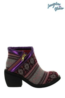 Irregular Choice Purple Eggie Soldiers Ankle Boots