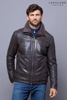Lakeland Leather Derwent Nero Brown Leather Coat