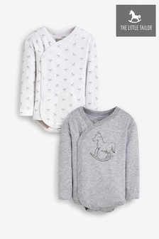 The Little Tailor Grey L3 Bodysuits 2 Pack