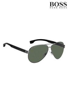 BOSS Silver Pilot Sunglasses