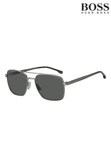 BOSS Polarised Silver Sunglasses