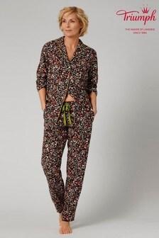 Triumph Black PW Boyfriend Pyjama Set