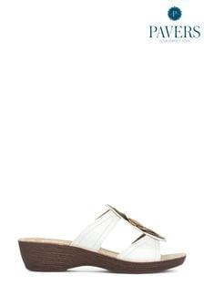 Pavers Ladies Embellished Mule Sandals