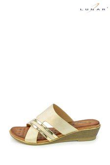 Lunar Penny Beige Mule Sandals