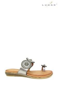 Lunar Oyster Glitz Toe Loop Sandals