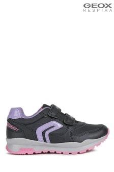 Geox Black  J Pavel Girl A Shoes