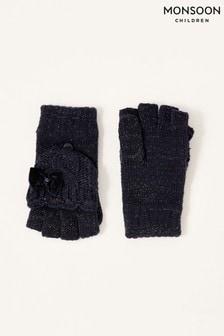 Monsoon Blue Nancy Sparkle Capped Gloves