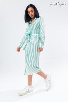 Hype. Mint Zebra Women's Shirt Dress