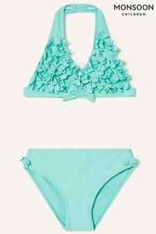 Monsoon Blue 3D Flower Bikini Set