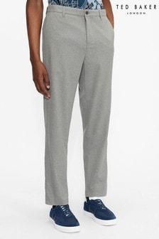 Ted Baker Grey Juliien Plain Brushed Trousers