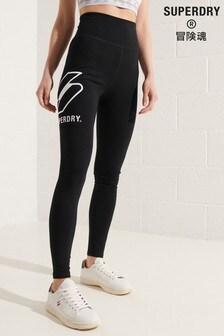 Superdry Black Sportstyle Logo Leggings