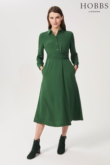 Hobbs Green Ina Shirt Dress