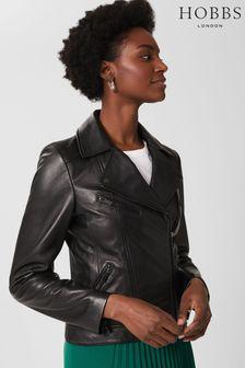 Hobbs Black Dakota Leather Jacket