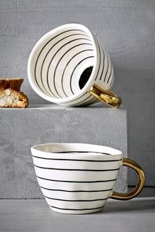 Set of 2 Stripe Mugs