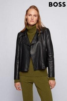 BOSS Saleli Leather Jacket