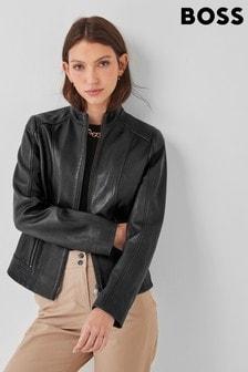 BOSS Black Sabella Leather Jacket