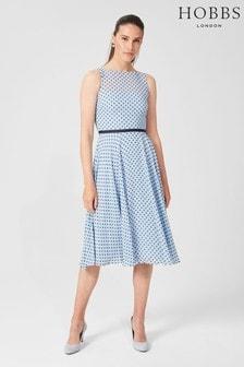 Hobbs Blue Della Dress