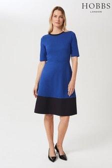 Hobbs Blue Simona Ponte Dress