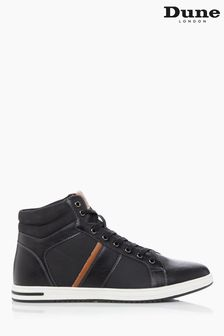 Dune London Black Voyage High Top Trainers