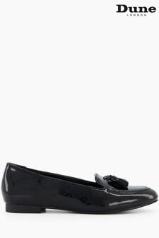 Dune London Black Gallerie Almond Toe Tassel Loafers