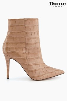 Dune London Natural Octane Stiletto Point Ankle Boots