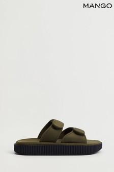 Mango Cream Velcro Strap Sandals