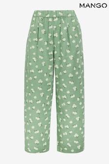 Mango Linen Blend Culotte Trousers