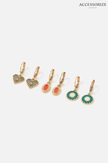 Accessorize Reconnected Charmy Hoops Multipack