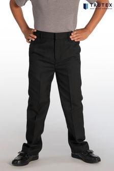 Trutex Black Slim Fit School Trousers