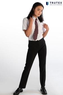 Trutex Black Girls Twin Pocket School Trousers
