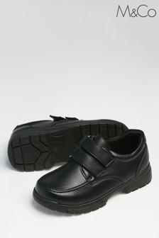 M&Co Black Velcro Strap Shoes