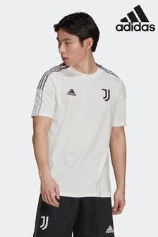 adidas White Juventus Tiro T-Shirt