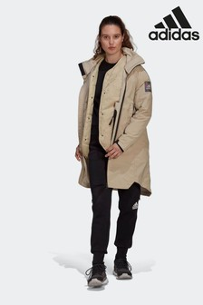 adidas Brown Myshelter Four-In-One Parka