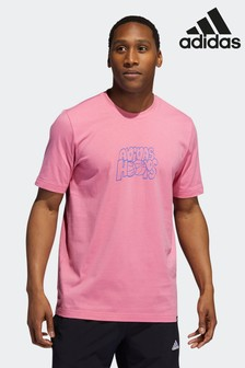 adidas Pink Lil Stripe Hoops Graphic T-Shirt