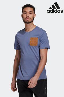 adidas Purple Terrex Pocket Graphic T-Shirt