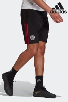 adidas Black Manchester United Tiro Downtime Shorts
