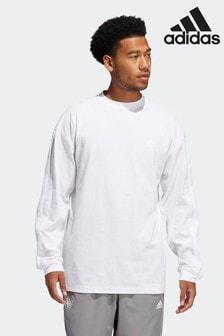 adidas White Donovan Mitchell Graphic T-Shirt