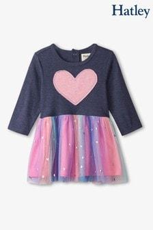 Hatley Blue Twinkle Hearts Baby Mix Media Dress