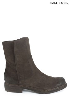 Celtic & Co Brown Essential Leather Ankle Boots