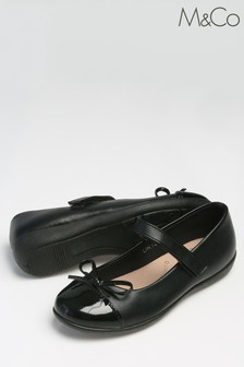 M&Co Black Ballerina Velcro Shoes