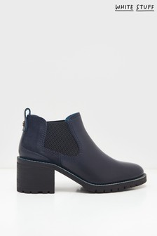 White Stuff Navy Chelsea Shoe Boots