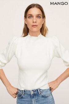 Mango Womens Cream Sweater