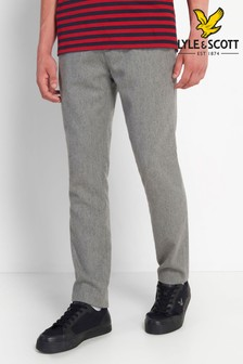 Lyle & Scott Grey Wool Blend Trousers