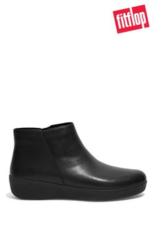 FitFlop Black Sumi Leather Ankle Boots