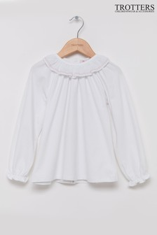 Trotters London White Lucy Jersey Top