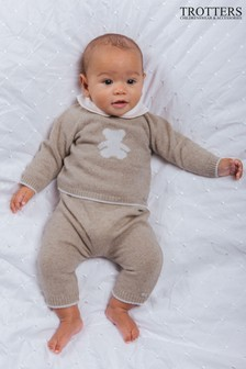 Trotters London Natural Teddy Jumper