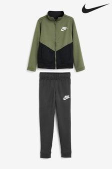 Nike Black Khaki Youth Tracksuit